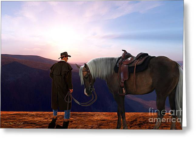 Courage Paintings Greeting Cards - Daybreak Greeting Card by Corey Ford