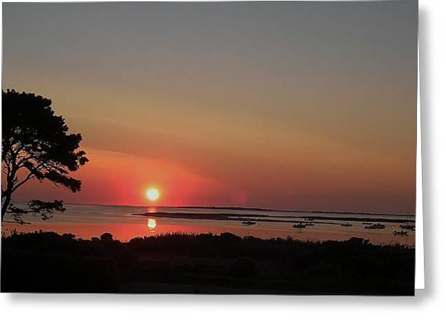 Daybreak In Edgartown Greeting Card