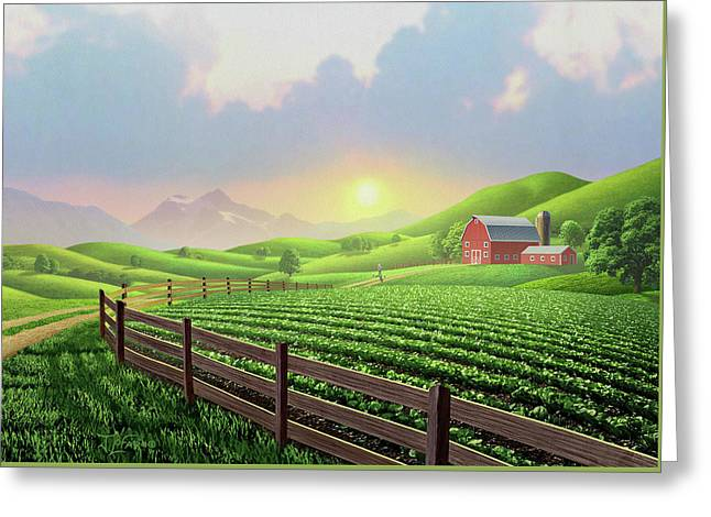 Daybreak Greeting Card by Jerry LoFaro
