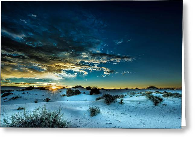 Daybreak At White Sands Greeting Card