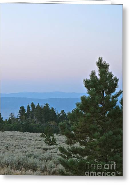 Daybreak On The Mountain Greeting Card