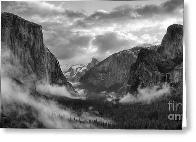 Daybreak Over Yosemite Greeting Card