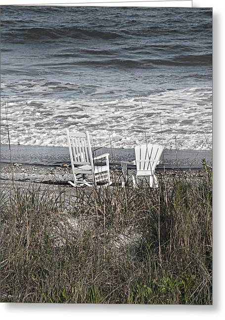 Daydreaming By The Sea  Greeting Card by Betsy Knapp