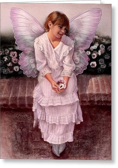Daydreaming Fairy Girl Greeting Card