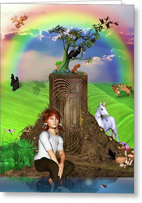 Daydreams In Magicland Greeting Card