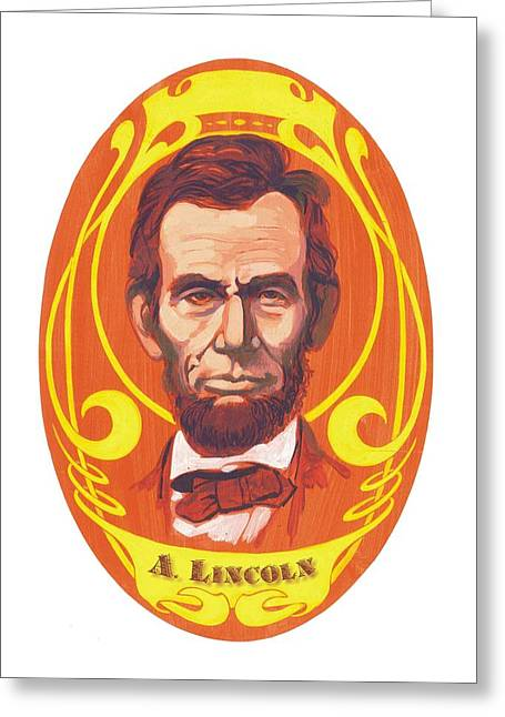Dayglow Lincoln Greeting Card