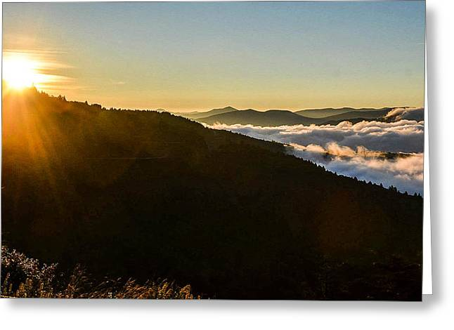 Daylight Above The Clouds Greeting Card