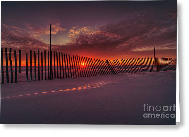 Daylight Boundary Greeting Card by Ian McGregor