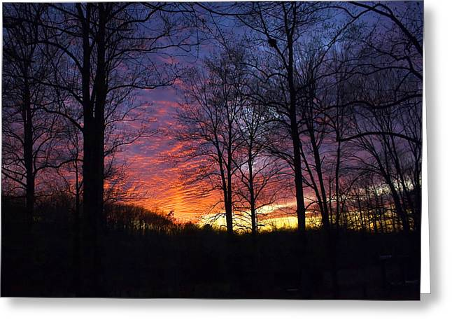 Greeting Card featuring the photograph Day's End by Alan Raasch