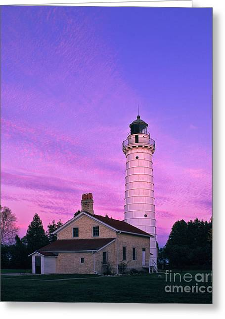 Days End At Cana Island Lighthouse - Fm000003 Greeting Card