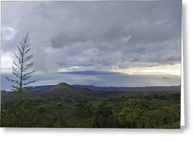Days End At Kahoolawe Greeting Card by Charlie Osborn