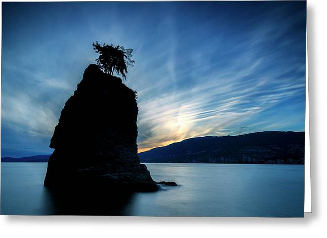 Day's End At Siwash Rock Greeting Card by Stephen Stookey