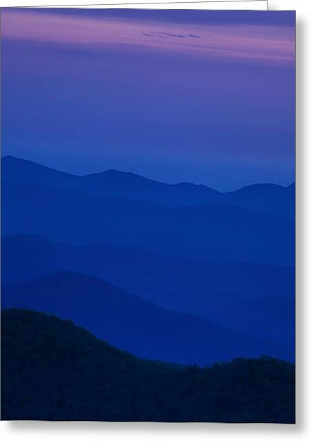 Stack Greeting Cards - Days End at the Blue Ridge Greeting Card by Andrew Soundarajan