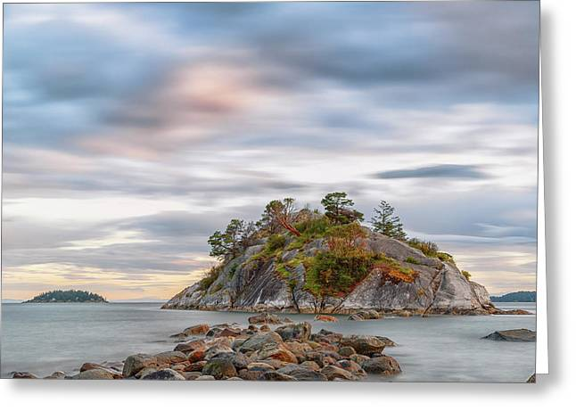 Days End At Whyte Island Greeting Card by Stephen Stookey