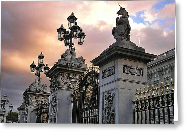 Day's End, Buckingham Palace Main Gate Greeting Card