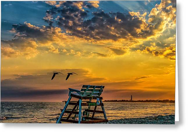 Days End In Cape May Nj Greeting Card