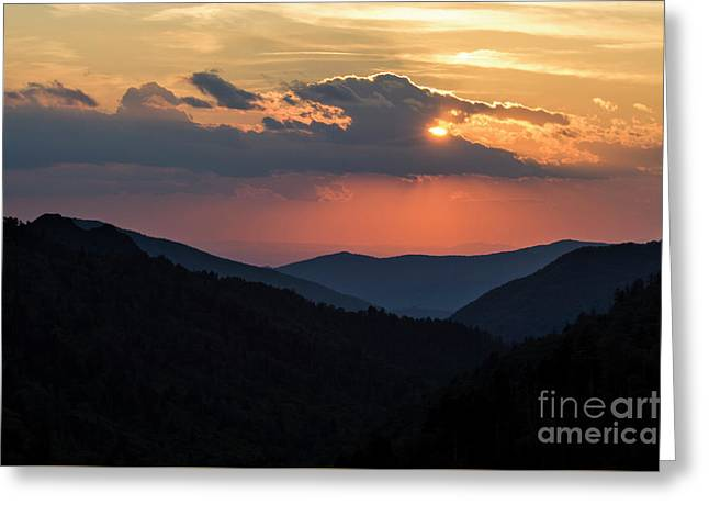 Greeting Card featuring the photograph Days End In The Smokies - D009928 by Daniel Dempster