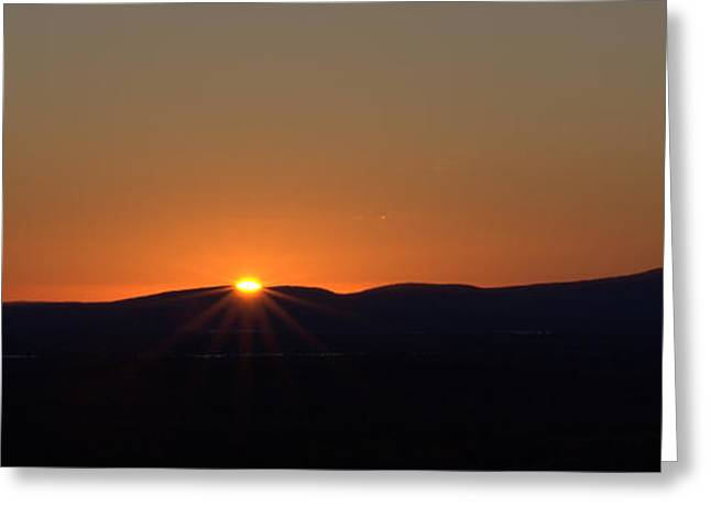 Greeting Card featuring the photograph Days First Light I Hdr by Greg DeBeck