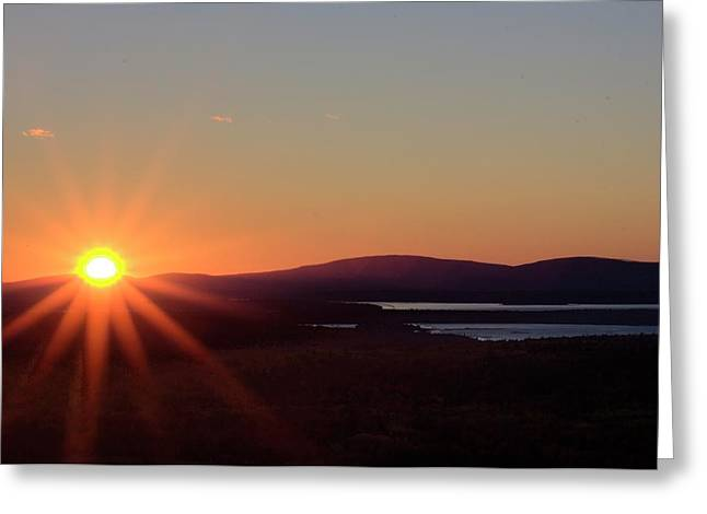 Greeting Card featuring the photograph Days First Light IIi Hdr by Greg DeBeck