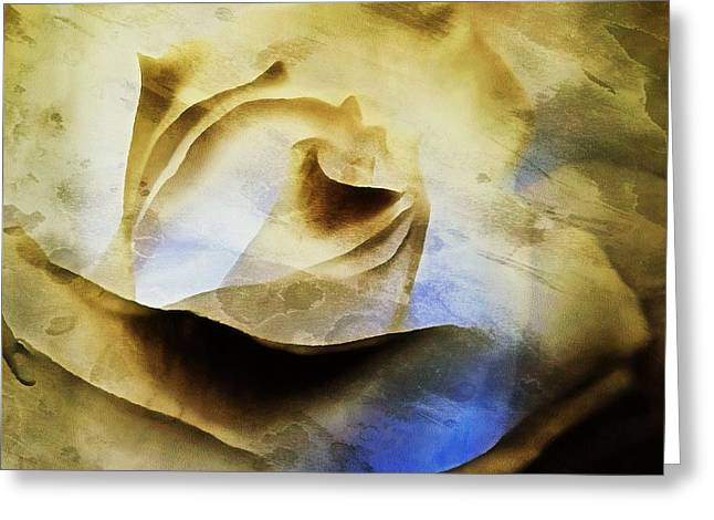 Greeting Card featuring the painting Days Go By - Rose - Dreamscape by Janine Riley