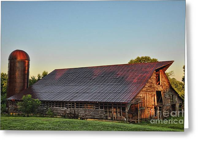 Days Of Thunder Barn Greeting Card