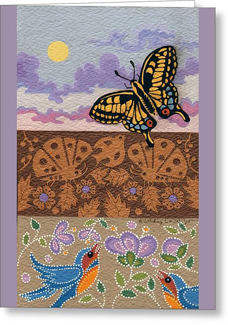 Greeting Card featuring the painting Daytime by Chholing Taha