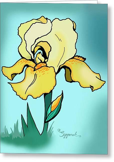 Daytime Iris Greeting Card