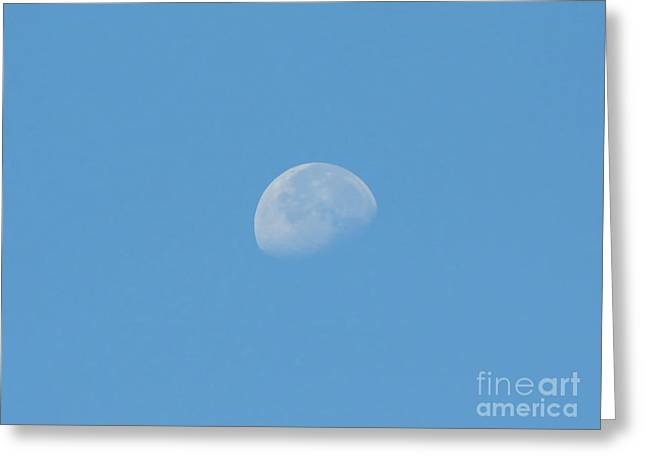 Daytime Moon Greeting Card by D Hackett
