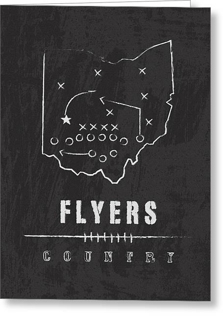Dayton Flyers / Ncaa College Football Art / Ohio Greeting Card by Damon Gray