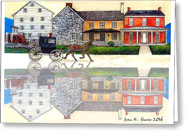 Dayton In Virginia's Shenandoah Valley Greeting Card by Joan Shaver