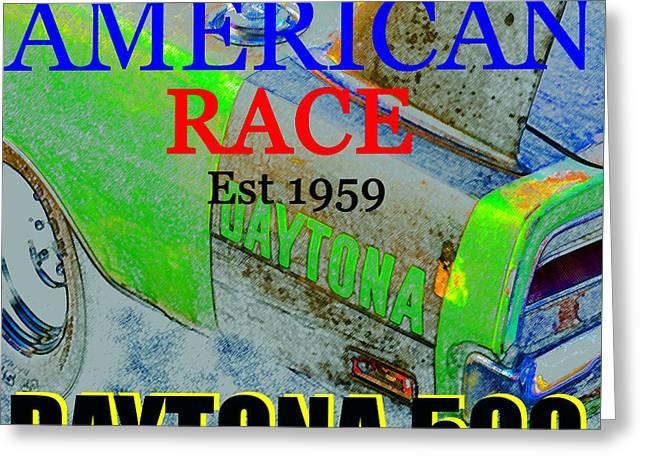Daytona 500 Historic Art Greeting Card by David Lee Thompson
