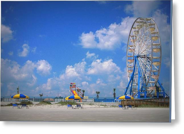 Daytona Beach Boardwalk Greeting Card