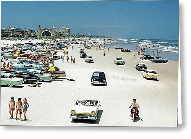 Daytona Beach Florida - 1957 Greeting Card