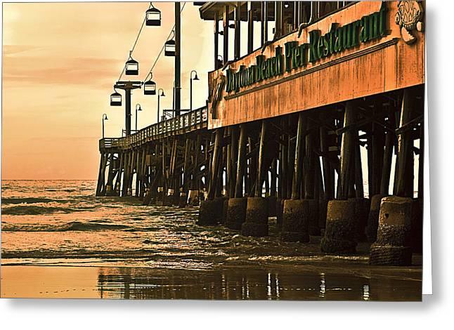 Daytona Greeting Cards - Daytona Beach Pier Greeting Card by Carolyn Marshall