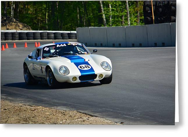 Daytona Shelby Cobra Replica Greeting Card by Mike Martin