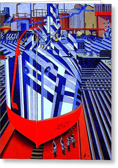 Dazzled Greeting Cards - Dazzle ships  Greeting Card by Don Kemper