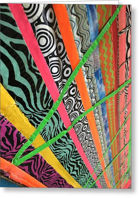 Dazzling Delirious Duct Tape Diagonals Greeting Card