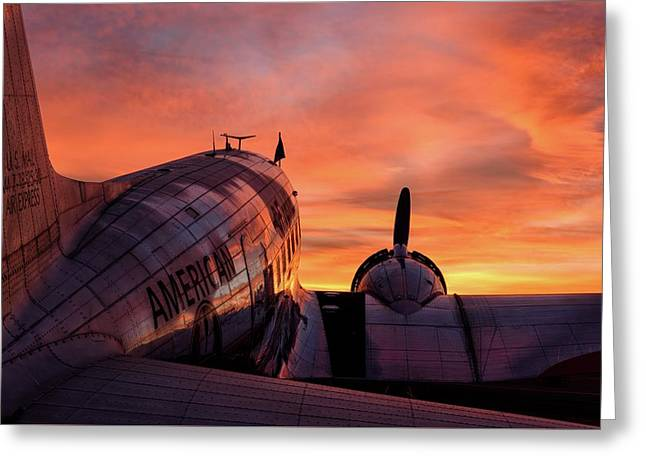 Dc-3 Dawn - 2017 Christopher Buff, Www.aviationbuff.com Greeting Card