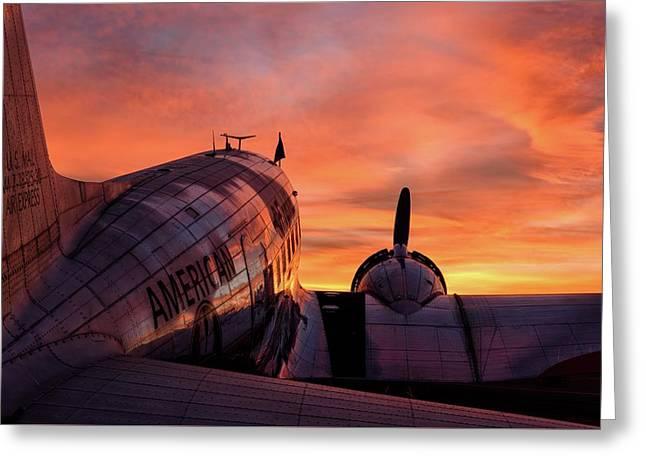 Dc-3 Dawn - 2017 Christopher Buff, Www.aviationbuff.com Greeting Card