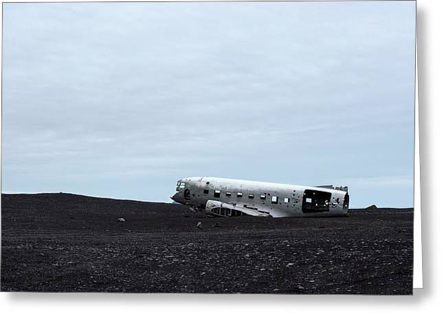 Greeting Card featuring the photograph Dc-3 Plane Wreck Iceland by Brad Scott