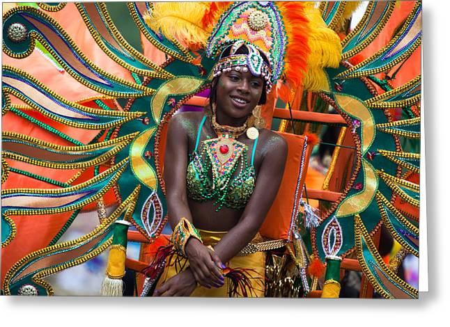 Dc Caribbean Carnival Greeting Cards - DC Caribbean Carnival No 17 Greeting Card by Irene Abdou