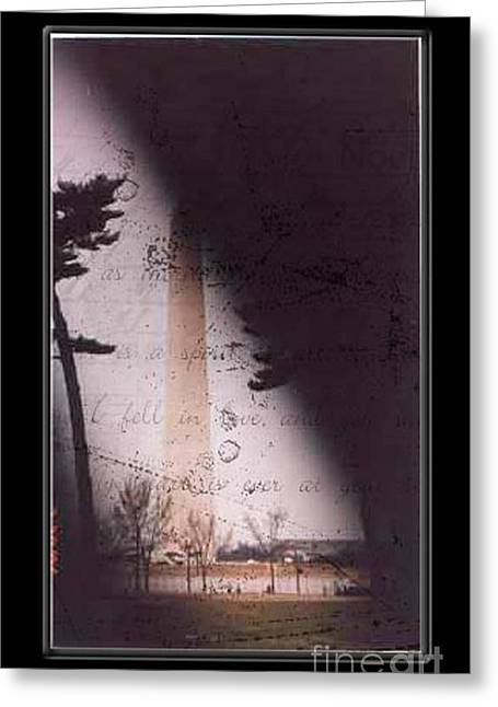 Dc Grunge  Greeting Card by Lynn Gettman