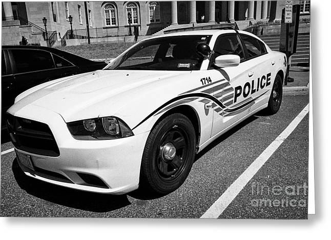 dc metropolitan police patrol cruiser car judiciary square Washington DC USA Greeting Card