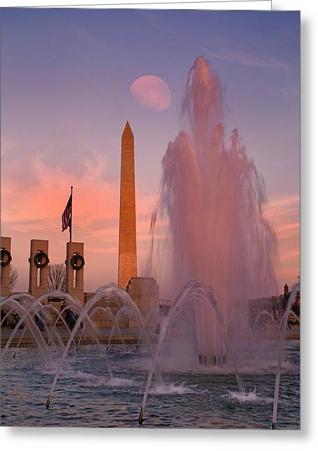 Dc Sunset Greeting Card by Betsy Knapp