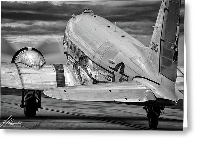 Dc3 Taxiing For Departure Greeting Card