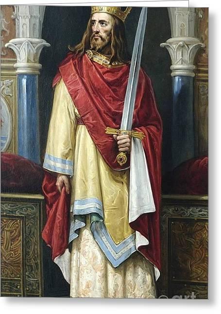 De Castilla  Ideal Portrait Of Juan  Greeting Card by MotionAge Designs