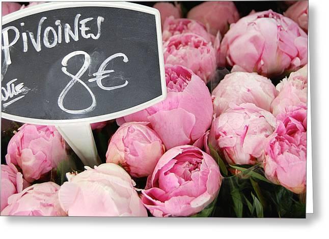 De Couleur Rose Greeting Card