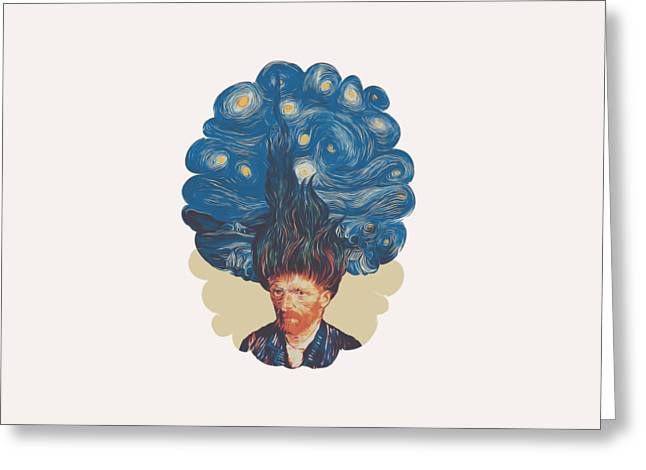 De Hairednacht Greeting Card by Mustafa Akgul