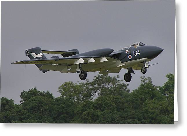 Greeting Card featuring the photograph De Havilland Dh110 Sea Vixen  by Tim Beach