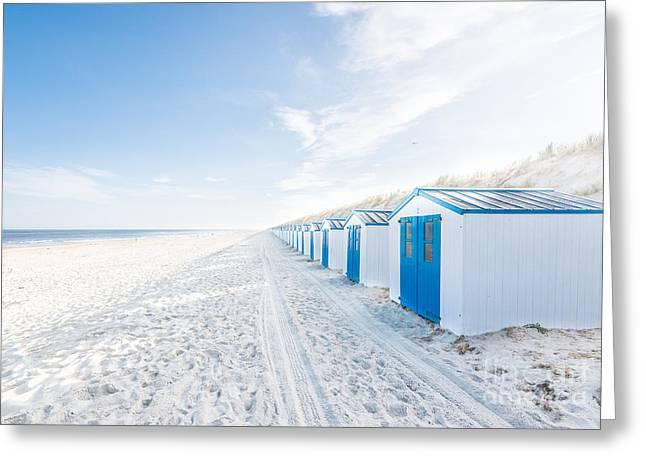 De Koog - Beach Cabins Greeting Card by Hannes Cmarits